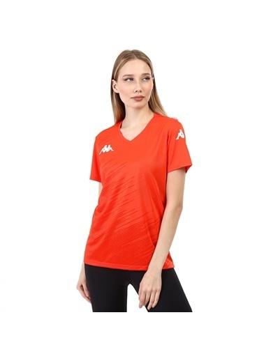 Kappa Kadın Poly T-Shirt Abuw  Oranj